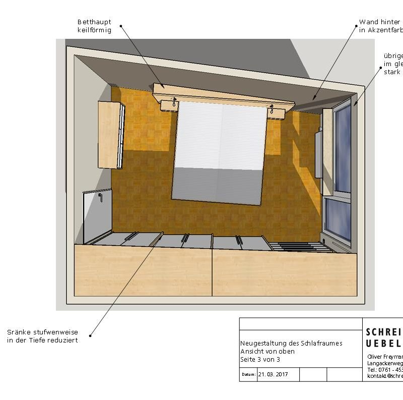 Raumgestaltung Entwurf Schreinerei Freymark Freiburg