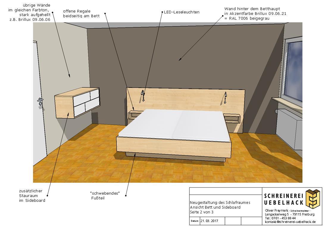 Raumgestaltung Schlafzimmer Schreinerei Freymark Freiburg