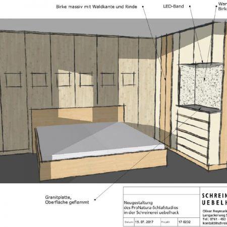 Schreinerei Freymark Freiburg Raumplanung Schlafzimmer
